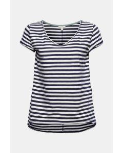 T-shirt à rayures, 100 % coton biologique, bleu