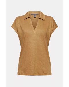 En lin : t-shirt à col polo