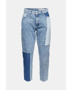 Jean au look patchwork, 100 % coton biologique, MOM TAILLE HAUTE