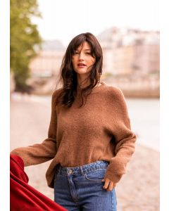 PULL OVERSIZE MOCCA
